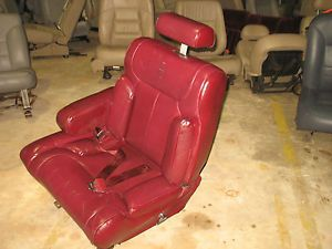 Power Lincoln Seat 94 93 92 91 90 Town Car Driver Seat Burgandy Leather