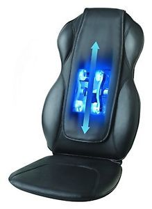 Homedics Shiatsu QRM 400 Quad Roller Heated Back Massager Chair Portable Cushion
