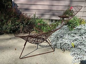 Vintag Mid Century Modern Bertoia Bird Lounge Chair Diamond Wire Eames Era Knoll