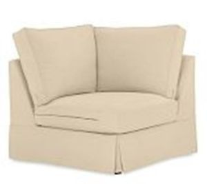 Pottery Barn Comfort Corner Chair Sectional Slipcover Brushed Canvas Honey