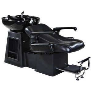 Details about New Sturdy Black Salon Shampoo Chair & Bowl Unit SU 07