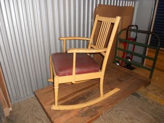 Vintage RARE Simmons Furniture Rocking Chair Steampunk American Industrial 20'S
