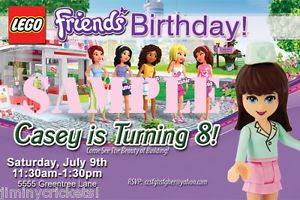 Lego Friends Birthday Invitations Invites Party Favors