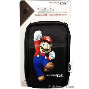 New Nintendo DSi DS Lite System Carrying Case Super Mario Game Traveler Black