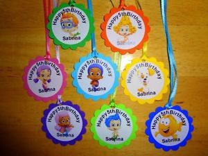 30 Bubble Guppies Personalized Gift Tags Birthday Party Favors Supply