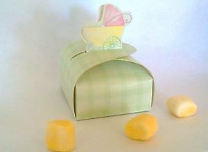 10 Favor Candy Boxes Baby Shower Party Supplies Boy or Girl Ducky Noahs Ark