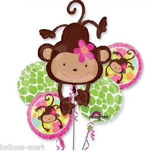 Monkey Jungle Birthday Party Baby Shower Animal Print Zoo Supplies Balloons XL