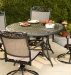 Hampton Bay Santa Maria Patio Round Dining Table Table Only