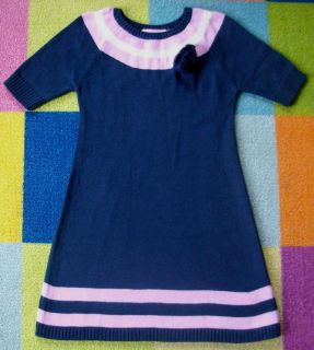 Lilly Pulitzer Designe Prep Flower Pink Stripe Lambswool Angora Sweater Dress 3