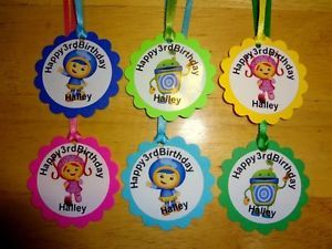 30 Team Umizoomi Personalized Gift Tags Birthday Party Favors Supply