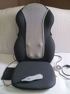 Homedics QRM400H Shiatsu Quad Roller Heat Back Massager Chair Cushion