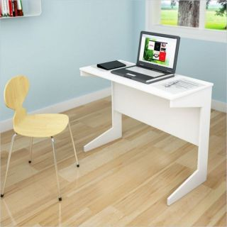 Sonax Slim Workspace Frost White Writing Desk