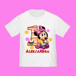 Baby Minnie Mouse 1st Birthday T Shirt Personalized Gift