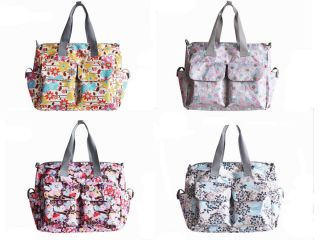 New 5pcs Fashion Baby Diaper Nappy Changing Bag Fit Stroller  LD8