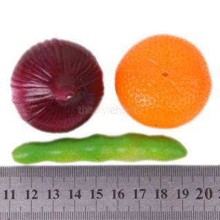 Pack 25pcs Plastic Fruits and Vegetables Food Pretend Play Kids Educational Toy