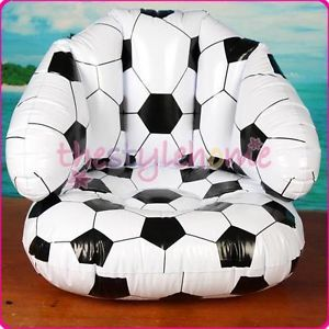 Cool Inflatable Blow Up Football Sofa Chair Kid Toy Party Favour Football Fans