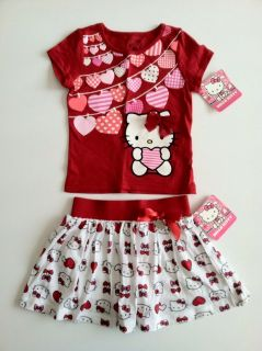 Hello Kitty Toddler Girl Valentine's Day Outfit Size 24 Months
