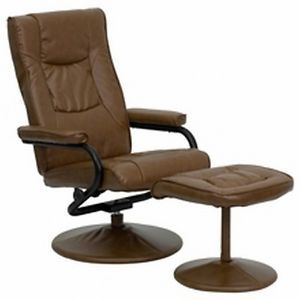 Best Contemporary Palimino Leather Recliner Ottoman Lounge Swivel Chair