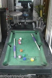"Barbie Furniture Lot Billiard ""Pool"" Table Hand Chair Jukebox Table Chairs"