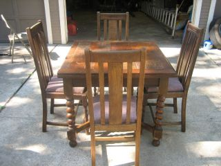Antique English Pub Table Chairs