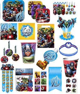 Avengers Assemble Birthday Party Supplies Hulk Capitain America Iron Man Thor