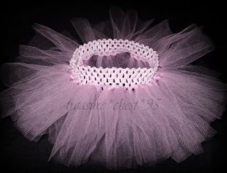Pink Tutu Princess Newborn Baby Shower Gift Photo Prop Tulle Skirt Photography