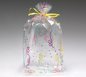 Confetti Cello Birthday Party Supply Baby Shower Favor Gift Bag 11x5x2 5 10