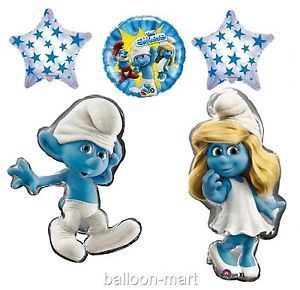 Smurfs Movie Party Supplies Smurfette Birthday Baby Shower Decorations Balloons