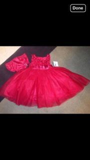 Baby Girls Limited Editions Red Christmas Dress 6 9 Months