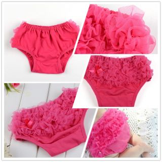 Cute Baby Girl Ruffle Panties Briefs Bloomer Diaper Cover Pettiskirt Roseo