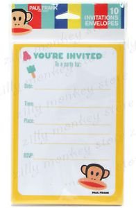 Paul Frank Julius Birthday Party Invitations Envelope