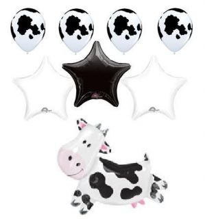 Cow Farm Balloon Barn Animal Party Supplies Birthday