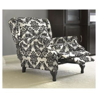 Black White Wing Back Recliner Chair Living Family Room Sofa Office Furniture