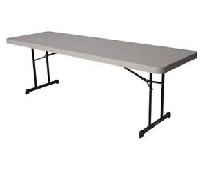 Lifetime Plastic Tables 80127 8 ft Putty Professional Grade Folding Table