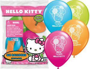 6 Hello Kitty Latex Balloons Girls Birthday Party Supply Decorations Sanrio