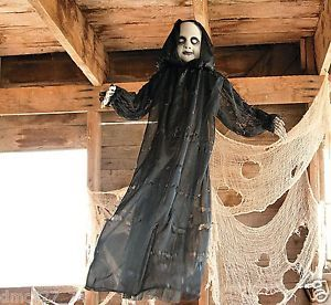 1 Halloween Haunted House Decor Prop Hanging Creepy Baby Face Reaper