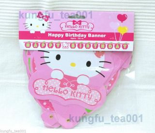 Sanrio Hello Kitty Happy Birthday Party Supplies Letter Banner Decoration New
