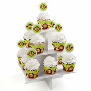 Funfari Fun Safari Jungle Cupcake Supplies Baby Shower or Birthday Party