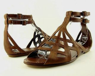 Belle Sigerson Morrison Brown Leather Gladiator Sandals Shoes New Sz 11