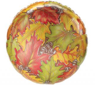 "Autumn Leaves 18"" Balloons Thanksgiving Fall Festival"