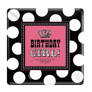 Rocker Girl Pink Princess Childrens Kids Birthday Party x8 Paper Plates Square