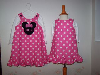 Minnie Mouse Polka Dot Ruffle Birthday Party Dress