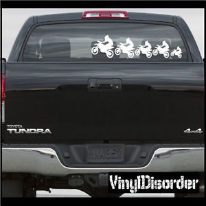 Family Kit Dirt Bike Family 01 Stick People Kit Car or Wall Vinyl Decal Stickers