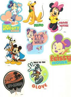 Sandylion Disney Mickey Mouse and Friends 8 Stickers Vintage