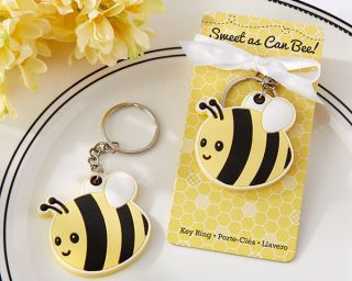 Sweet as Can Bee Baby Bumble Bee Keychain Shower Favor Thank You Gift 25 50 72