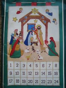 Bucilla Christmas Felt Applique Holiday Advent Calendar Kit Peace Earth Nativity