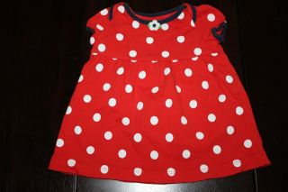 Easter Girls Toddler Sunflower Beach Red Polka Dot Dress Set Outfit Clothes 6M