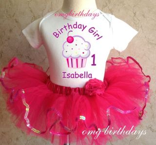Lil Cupcake Cutie 1 2 Brown Owl Birthday Girl 1st 2nd Shirt Pink Tutu Set Outfit