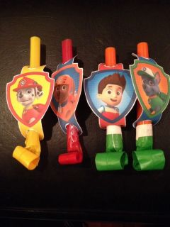 Paw Patrol Party Blowers Set of 8