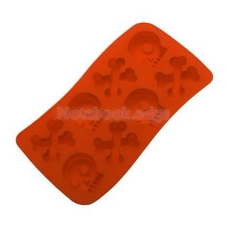 4X Punk Style Skull Crossbone Ice Cube Mold Maker Tray for Party Fun Food DIY